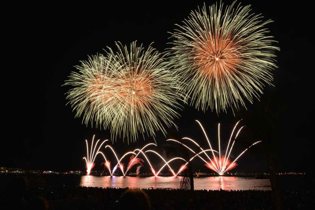 sky night fireworks sylvester
